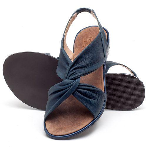 Laranja_Lima_Shoes_Sapatos_Femininos_Sandalia_Rasteira_Flat_em_Couro_Marinho_-_Codigo_-_3654_2