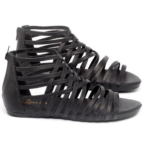 Laranja_Lima_Shoes_Sapatos_Femininos_Sandalia_Rasteira_Flat_em_Couro_Preto_-_Codigo_-_137188_1