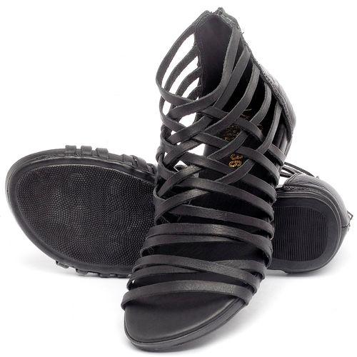 Laranja_Lima_Shoes_Sapatos_Femininos_Sandalia_Rasteira_Flat_em_Couro_Preto_-_Codigo_-_137188_2