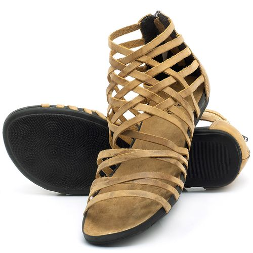 Laranja_Lima_Shoes_Sapatos_Femininos_Sandalia_Rasteira_Flat_em_Couro_Amarelo_-_Codigo_-_137188_2