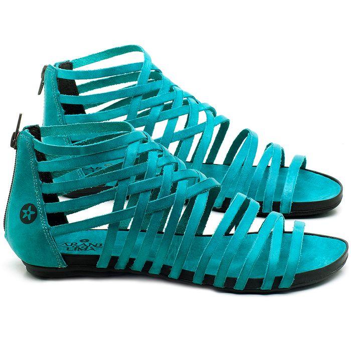 Laranja_Lima_Shoes_Sapatos_Femininos_Sandalia_Rasteira_Flat_em_Couro_Azul_-_Codigo_-_137188_1