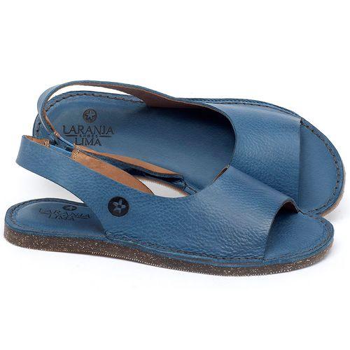 Laranja_Lima_Shoes_Sapatos_Femininos_Sandalia_Rasteira_Flat_em_Couro_Azul_-_Codigo_-_141163_1