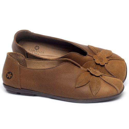 Laranja_Lima_Shoes_Sapatos_Femininos_Sapatilha_Bico_Quadrado_em_Couro_Caramelo_-_Codigo_-_9493_1