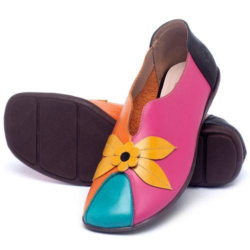 Laranja_Lima_Shoes_Sapatos_Femininos_Sapatilha_Bico_Quadrado_em_Couro_Multicolor_-_Codigo_-_9493_2