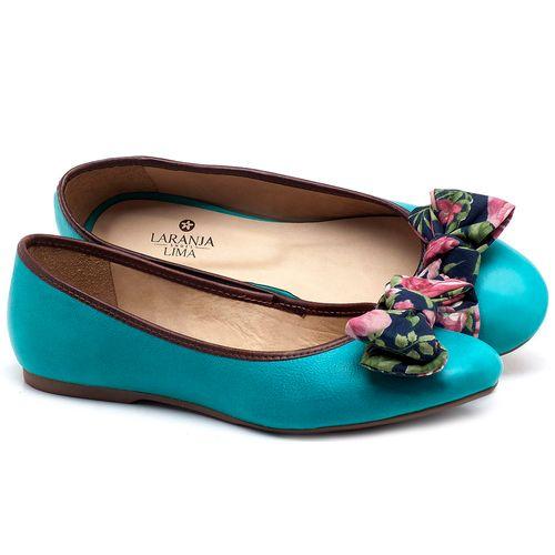 Laranja_Lima_Shoes_Sapatos_Femininos_Sapatilha_Bico_Redondo_em_Couro_Azul_-_Codigo_-_9450_1