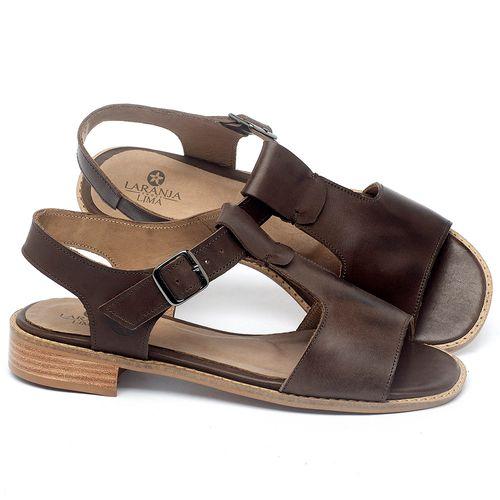 Laranja_Lima_Shoes_Sapatos_Femininos_Sandalia_Laranja_Lima_Shoes_Classic_em_Couro_Marrom_-_Codigo_-_9483_1