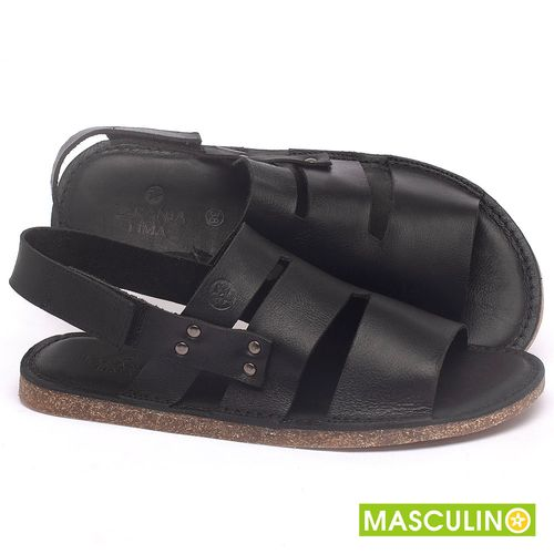 Laranja_Lima_Shoes_Sapatos_Masculinos_Rasteira_em_Couro_Preto_-_Codigo_-_141180_1