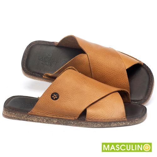 Laranja_Lima_Shoes_Sapatos_Masculinos_Rasteira_em_Couro_Amarelo_-_Codigo_-_141181_1