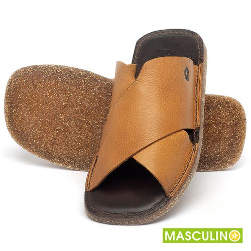 Laranja_Lima_Shoes_Sapatos_Masculinos_Rasteira_em_Couro_Amarelo_-_Codigo_-_141181_2