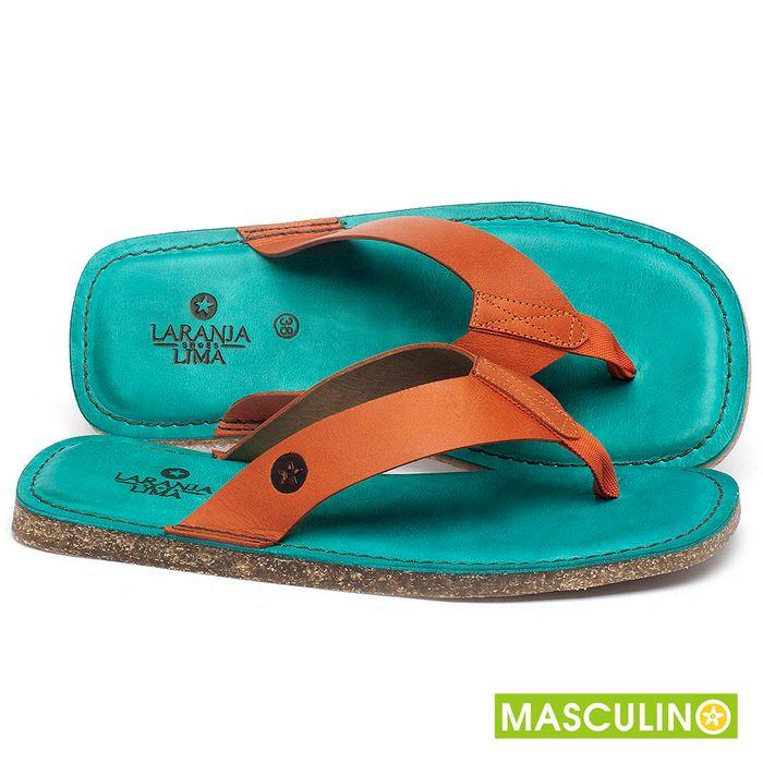 Laranja_Lima_Shoes_Sapatos_Masculinos_Rasteira_em_Couro_Laranja_-_Codigo_-_141182_1