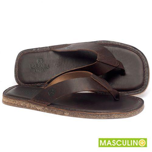 Laranja_Lima_Shoes_Sapatos_Masculinos_Rasteira_em_Couro_Marrom_-_Codigo_-_141182_1