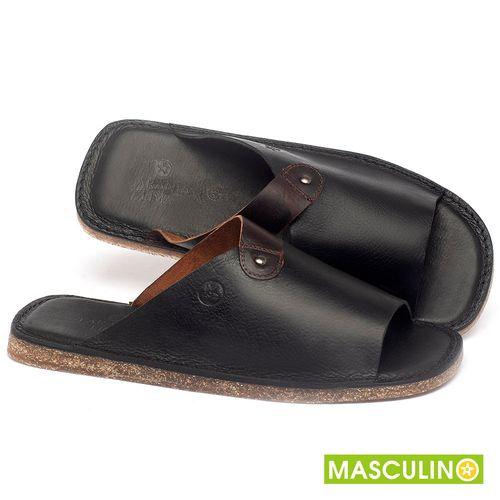 Laranja_Lima_Shoes_Sapatos_Masculinos_Rasteira_em_Couro_Preto_-_Codigo_-_141183_1