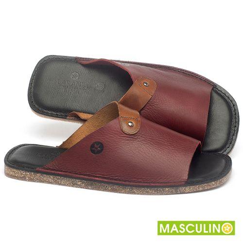 Laranja_Lima_Shoes_Sapatos_Masculinos_Rasteira_em_Couro_Vinho_-_Codigo_-_141183_1