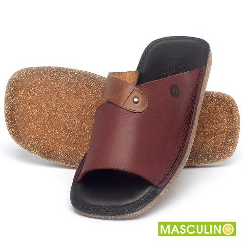 Laranja_Lima_Shoes_Sapatos_Masculinos_Rasteira_em_Couro_Vinho_-_Codigo_-_141183_2