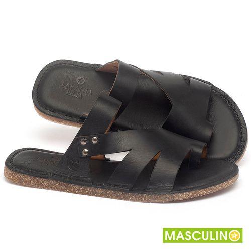 Laranja_Lima_Shoes_Sapatos_Masculinos_Rasteira_em_Couro_Preto_-_Codigo_-_141184_1