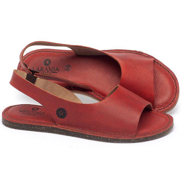 Laranja_Lima_Shoes_Sapatos_Femininos_Sandalia_Rasteira_Flat_em_Couro_Vermelho_-_Codigo_-_141163_1