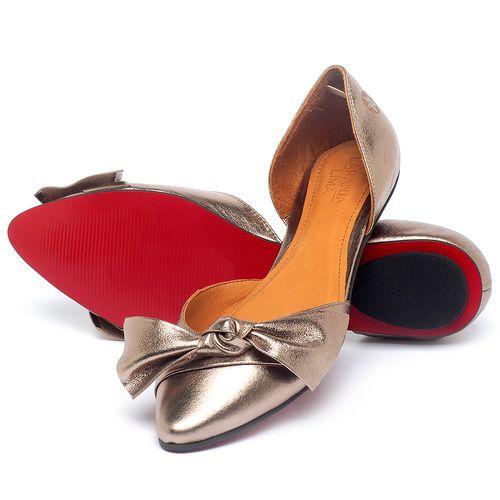 Laranja_Lima_Shoes_Sapatos_Femininos_Sapatilha_Bico_Fino_em_Couro_Metalizado_-_Codigo_-_56222_2