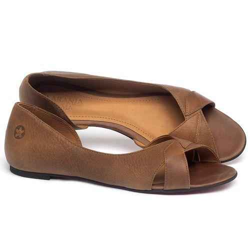 Laranja_Lima_Shoes_Sapatos_Femininos_Sapatilha_Peep_Toe_em_Couro_Marrom_-_Codigo_-_56219_1