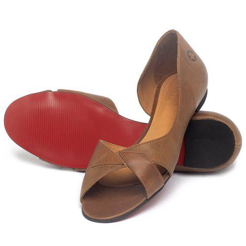 Laranja_Lima_Shoes_Sapatos_Femininos_Sapatilha_Peep_Toe_em_Couro_Marrom_-_Codigo_-_56219_2