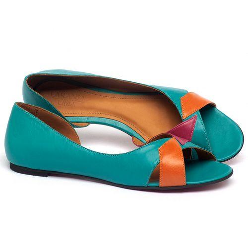 Laranja_Lima_Shoes_Sapatos_Femininos_Sapatilha_Peep_Toe_em_Couro_Multicolor_-_Codigo_-_56219_1