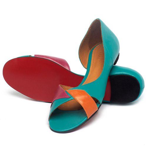 Laranja_Lima_Shoes_Sapatos_Femininos_Sapatilha_Peep_Toe_em_Couro_Multicolor_-_Codigo_-_56219_2