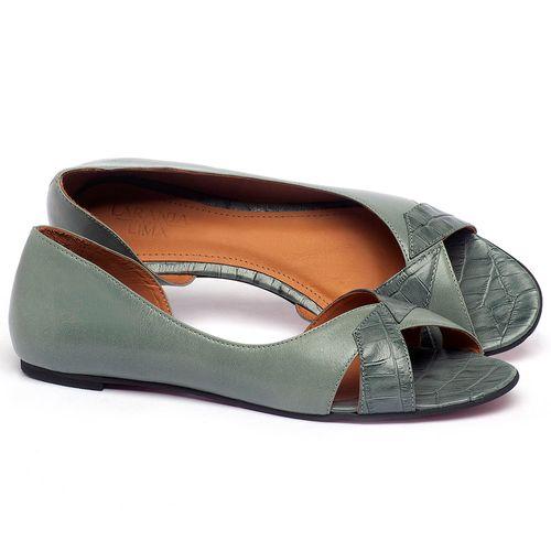 Laranja_Lima_Shoes_Sapatos_Femininos_Sapatilha_Peep_Toe_em_Couro_Azul_-_Codigo_-_56219_1