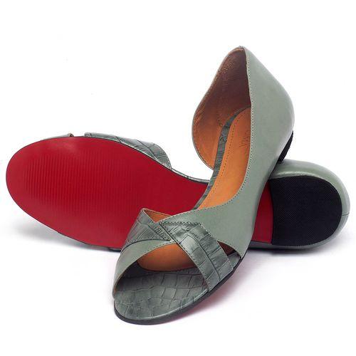 Laranja_Lima_Shoes_Sapatos_Femininos_Sapatilha_Peep_Toe_em_Couro_Azul_-_Codigo_-_56219_2