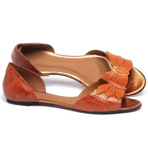 Laranja_Lima_Shoes_Sapatos_Femininos_Sandalia_Rasteira_Flat_em_Couro_Laranja_-_Codigo_-_56221_1