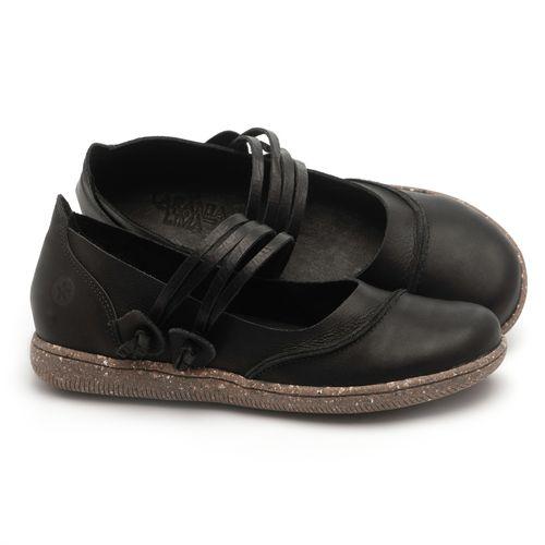 Laranja_Lima_Shoes_Sapatos_Femininos_Flat_Shoes_em_Couro_Preto_-_Codigo_-_137267_1