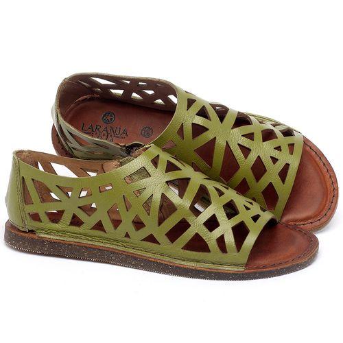 Laranja_Lima_Shoes_Sapatos_Femininos_Sandalia_Rasteira_Flat_em_Couro_Verde_-_Codigo_-_141160_1