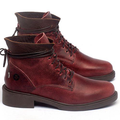 Laranja_Lima_Shoes_Sapatos_Femininos_Bota_Cano_Curto_Salto_de_3_cm_em_Couro_Vermelho_-_Codigo_-_137317_1