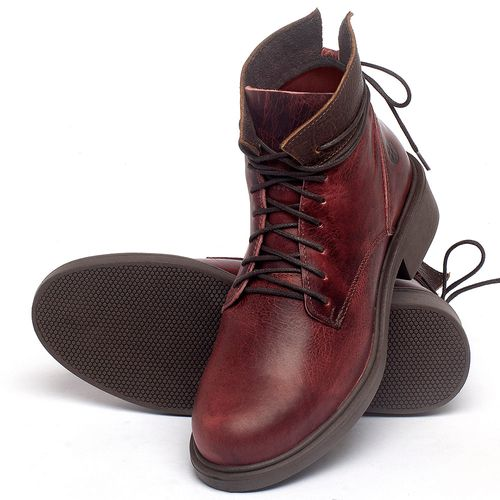 Laranja_Lima_Shoes_Sapatos_Femininos_Bota_Cano_Curto_Salto_de_3_cm_em_Couro_Vermelho_-_Codigo_-_137317_2
