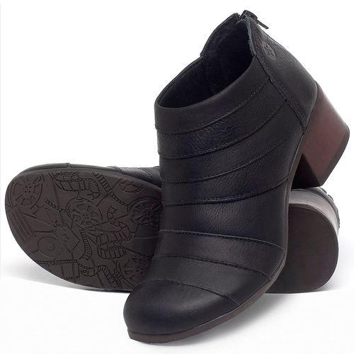 Laranja_Lima_Shoes_Sapatos_Femininos_Bota_Cano_Curto_Salto_de_5_cm_em_Couro_Preto_-_Codigo_-_137162_2