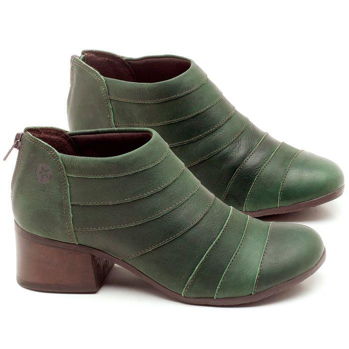 Laranja_Lima_Shoes_Sapatos_Femininos_Bota_Cano_Curto_Salto_de_5_cm_em_Couro_Verde_-_Codigo_-_137162_1