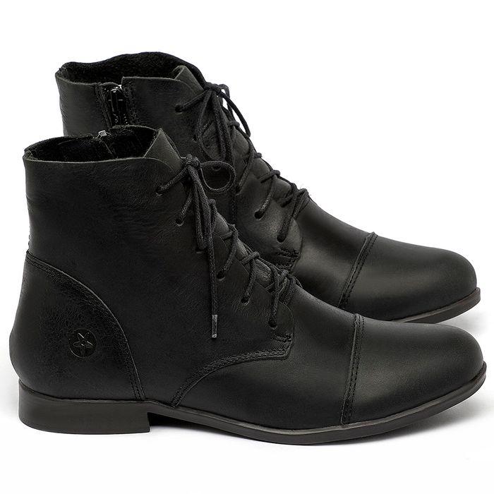 Laranja_Lima_Shoes_Sapatos_Femininos_Bota_Cano_Curto_em_Couro_Preto_-_Codigo_-_137323_1
