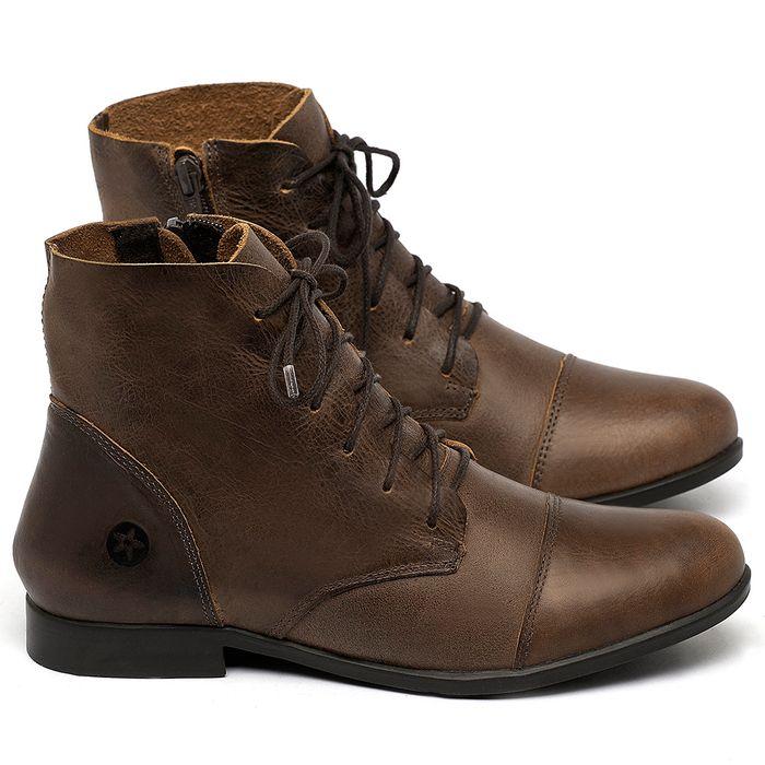 Laranja_Lima_Shoes_Sapatos_Femininos_Bota_Cano_Curto_em_Couro_Marrom_-_Codigo_-_137323_1