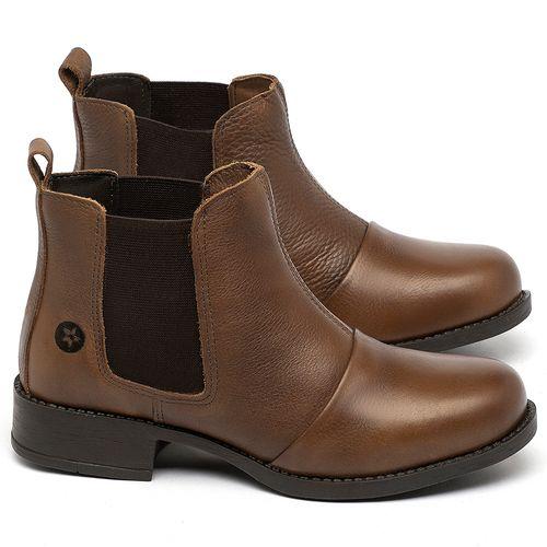 Laranja_Lima_Shoes_Sapatos_Femininos_Bota_Cano_Curto_em_Couro_Caramelo_-_Codigo_-_141185_1