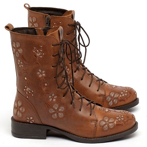 Laranja_Lima_Shoes_Sapatos_Femininos_Bota_Cano_Curto_Salto_de_2_cm_em_Couro_Caramelo_-_Codigo_-_141083_1