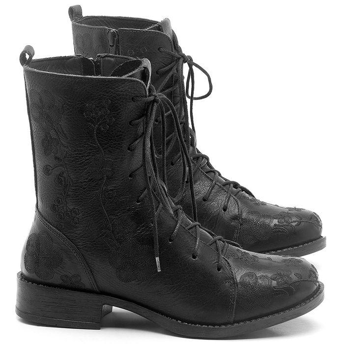 Laranja_Lima_Shoes_Sapatos_Femininos_Bota_Cano_Curto_Salto_de_3_cm_em_Couro_Preto_-_Codigo_-_141127_1