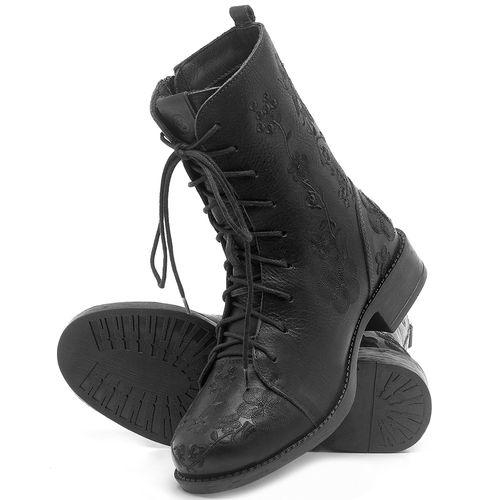 Laranja_Lima_Shoes_Sapatos_Femininos_Bota_Cano_Curto_Salto_de_3_cm_em_Couro_Preto_-_Codigo_-_141127_2