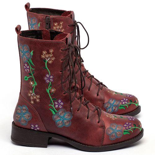 Laranja_Lima_Shoes_Sapatos_Femininos_Bota_Cano_Curto_Salto_de_3_cm_em_Couro_Vermelho_-_Codigo_-_141127_1