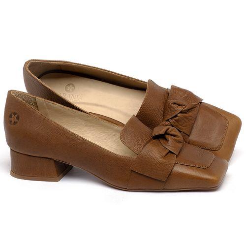 Laranja_Lima_Shoes_Sapatos_Femininos_Scarpin_Salto_Baixo_de_2_cm_em_Couro_Caramelo_-_Codigo_-_3732_1