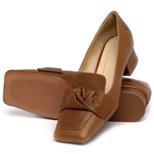 Laranja_Lima_Shoes_Sapatos_Femininos_Scarpin_Salto_Baixo_de_2_cm_em_Couro_Caramelo_-_Codigo_-_3732_2