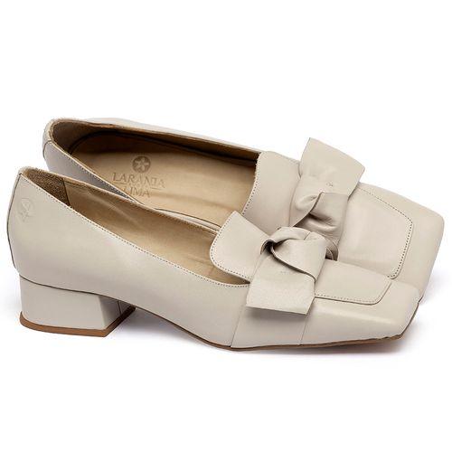Laranja_Lima_Shoes_Sapatos_Femininos_Scarpin_Salto_Baixo_de_2_cm_em_Couro_Off-White_-_Codigo_-_3732_1