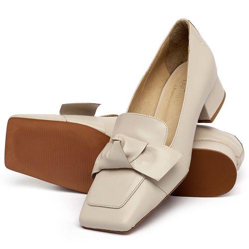 Laranja_Lima_Shoes_Sapatos_Femininos_Scarpin_Salto_Baixo_de_2_cm_em_Couro_Off-White_-_Codigo_-_3732_2