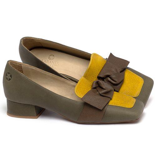 Laranja_Lima_Shoes_Sapatos_Femininos_Scarpin_Salto_Baixo_de_2_cm_em_Couro_Musgo_-_Codigo_-_3732_1