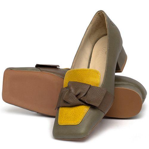 Laranja_Lima_Shoes_Sapatos_Femininos_Scarpin_Salto_Baixo_de_2_cm_em_Couro_Musgo_-_Codigo_-_3732_2