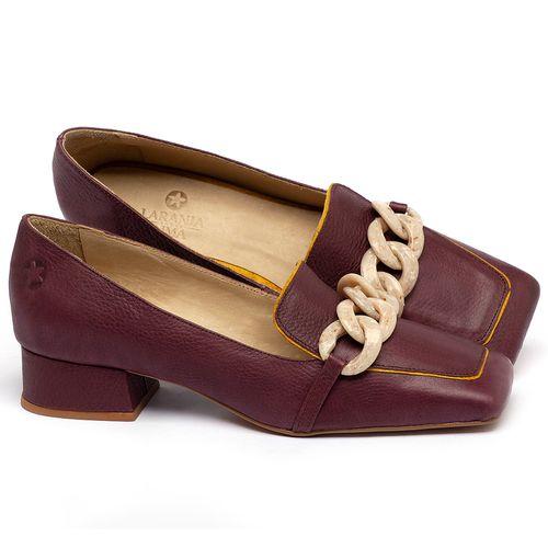 Laranja_Lima_Shoes_Sapatos_Femininos_Scarpin_Salto_Baixo_de_2_cm_em_Couro_Vinho_-_Codigo_-_3733_1