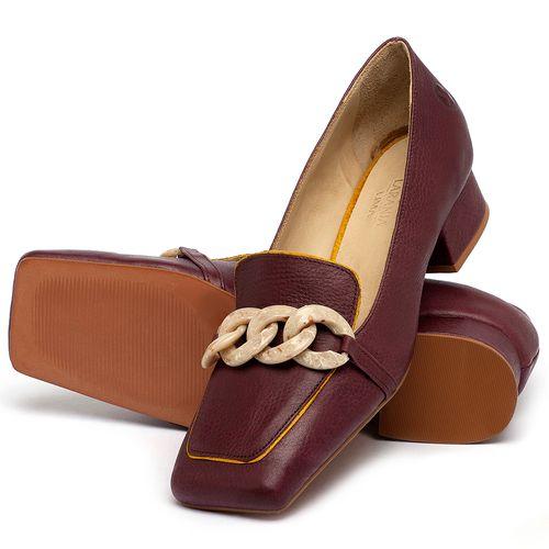 Laranja_Lima_Shoes_Sapatos_Femininos_Scarpin_Salto_Baixo_de_2_cm_em_Couro_Vinho_-_Codigo_-_3733_2