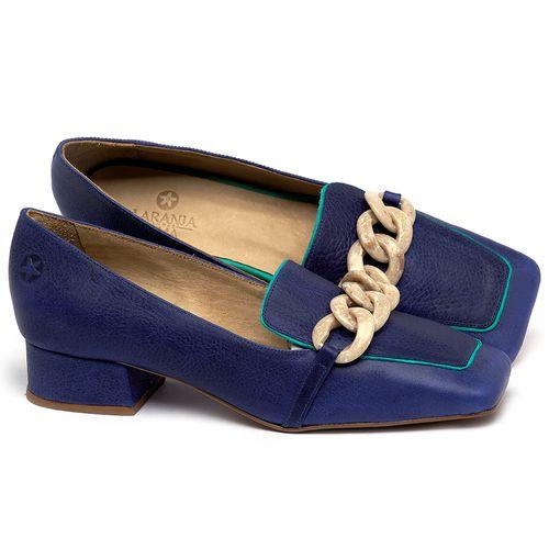 Laranja_Lima_Shoes_Sapatos_Femininos_Scarpin_Salto_Baixo_de_2_cm_em_Couro_Azul_-_Codigo_-_3733_1